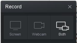 screenshot of screencast-o-matic recorder