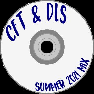 "cd logo that says, ""CfT & DLS Summer 2021 Mix"""